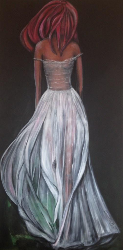 La longue robe blanche